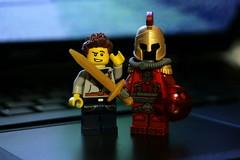 Insulas Fecit Tributarias (slight.of.brick) Tags: lego minifig gladiatron i shoutout loh superhero