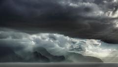 Big sky at the Na Pail coastline || Kuaui (David Marriott - Sydney) Tags: waimea hawaii unitedstates us kauai na pali coast hi sky cloud storm rain sun beam mountain sea ocean