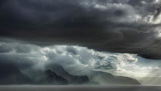 Big sky at the Na Pail coastline || Kuaui