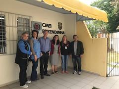Visita ao CMEI Fazendinha, com a Diretora Viviane