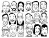 Me and some distinguished characters (Don Moyer) Tags: face grid ink drawing sketchbook moyer donmoyer brushpen selfportrait