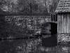 Under the bridge (Tim Ravenscroft) Tags: bridge reflections pond mabrymill virginia monochrome blackandwhite blackwhite hasselblad hasselbladx1d x1d