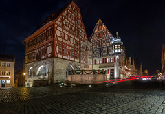 Storybook (Tazmanic) Tags: rothenburg rothenburgobdertauber bavaria germany romanticroad buildings street nightshot cobblestone longexposure