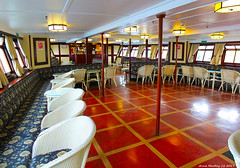 Scotland West Coast Largs the upper bar of the paddle steamer Waverley before passengers 21 June 2017 by Anne MacKay (Anne MacKay images of interest & wonder) Tags: scotland west coast clyde largs upper bar paddle steamer waverley xs1 21 june 2017 picture by anne mackay
