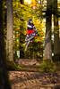 Baden to the bone No. 1 (Michael-Herrmann) Tags: nikon d7100 freiburg rosskopf badentothebone baden trail mtb downhill jump airtime air racing race autumn colors trees warm sun sunlight nikkor 85mm 18