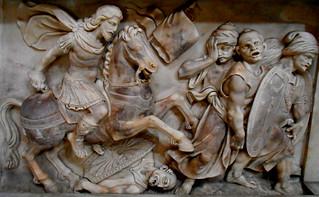 Saint James the Moor-slayer (Spanish: Santiago Matamoros) - sculpture end 16th-beginning 17th century - San Severo al Pendino Church in Naples