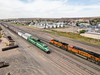 Apache RY Local & <W/B> BNSF Train (RailfanTerry) Tags: apachery81 bnsf4472 droneshot shortline holbrook arizona unitedstates us