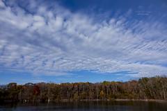 beautiful sunshine (mariola aga) Tags: autumn fall spencerpark belvidere park forest trees lake sky clouds nature sunlight sunshine landscape wideangle