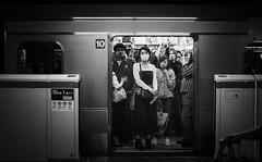 L1008043.jpg (th.zacharakis) Tags: subway metro waiting standing emotional envy jealous girl door bw blackandwhite monochome