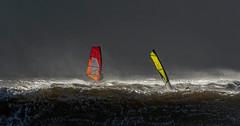 Keep your head above the wave (glennporterphotography.com) Tags: sailing windsurf windsurfing big sails storm brian clouds spray