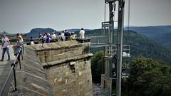 Königstein Fortress (marcostetter) Tags: travel reise forest sachsen saxony fortress lift königstein