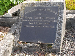 Headstone - Henry Thomas Wood