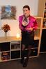 Pink blouse (Rikky_Satin) Tags: silk satin blouse leather skirt highheels pumps scarf feminization crossdresser crossdressing transvestite tranny tgirl gurl sissy secretary cleavage