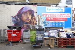 Irony graffiti, Tooting (duncan) Tags: graffiti tooting irony girl
