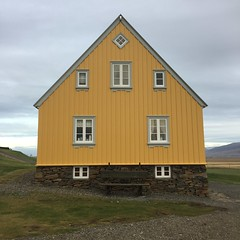 Glaumbaer (breakbeat) Tags: landscape grass sky house turf iceland northiceland farm traditional architecture yellowhouse museum travel iphoneonly