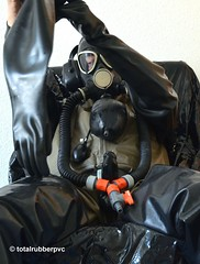 Heavyrubber + Zodiak (totalrubberpvc) Tags: cock latex rubber mask layers breathcontrol fullrubber latexsuit drysuit zodiak