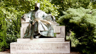Budapest Anonymous statue