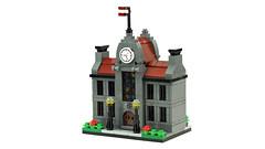 Town Hall (de-marco) Tags: lego town city mini modular building house