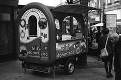 Donuts to go nuts for (Man with Red Eyes) Tags: streetfood food street fastfood horseshoecorner leicam2 berggerpancro400 pyrocathd 11100 16mins 70f analog analogue blackwhite monochrome silverhalide sunnysixteen filmtest homedeveloped v850 lancaster lancashire northwest
