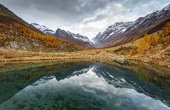 Alpine Mirror (Frederic Huber | Photography) Tags: 1124 1635 2470 70200 landschaft canoneos5dsr eos fotodiox frederichuber freearc landscape leefilters photography wonderpana wwwfrederichubercom wallis valais switzerland mountains berge reflection mirror lake bergsee see berwelt europe europa lötschental loetschental dreamscape blue blau mood