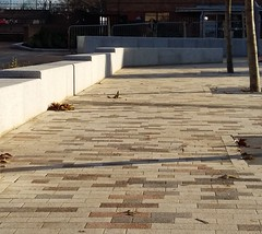 Leicester University Francis Johnson Building (Charcon Commercial Hard Landscaping - Spec Team) Tags: university education public realm path pedestrian textured paving charcon andover silver oak midnight grey granite leicester