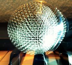 Microphone (on piano). Macro Mondays Stone Rhyming Zone.  Zoom Burst. HMM! (Viriki22) Tags: microphone macro macromondays zone stonerhymingzone zoom burst piano rythm rhym 7dwf