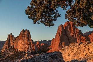 Sunrise at Garden of the Gods, Colorado.