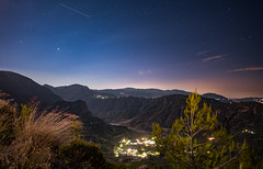 Wonderful Greece (free3yourmind) Tags: wonderful greece mountains peloponnese achaea achaia night sky stars starry view valley lights village top above nature