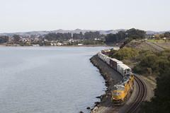 MRVOA - Pinole (imartin92) Tags: pinole california unionpacific freight train railroad emd sd70m locomotive sanpablo bay