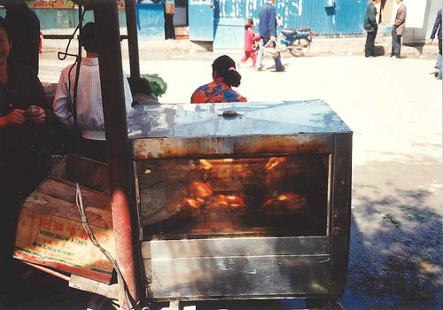 Suifenhe - market selling BBQ chicken