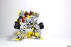 """Make greeble great again!"" (open cockpit) (Devid VII) Tags: yellow workbots make greeble great again devid vii lego moc mecha suit mech work"