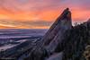 Where the Plains Meet the Rockies (Pulver41) Tags: boulder colorado sunrise landscape flatiorns 3rdflatiron hike mountains rockymountains nature canon70d tokina1228