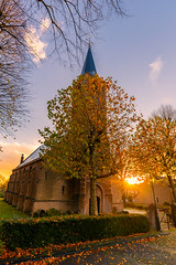 The church @ Rhoon (Marcel Tuit | www.marceltuit.nl) Tags: canon canon6d eos holland ijsselmonde kasteelvanrhoon landscape landschap me marceltuit nederland november rhoon thenetherlands architecture architectuur autumn boom canon1635 church contactmarceltuitnl distortion fall groenewissel handheld herfst hervormdegemeente hiking kerk kleinprofijt nature natuur ochtend rhoonsegrienden star ster sun toren tower tree uitdehand vervorming wandelen wwwmarceltuitnl zon