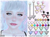 [ bubble ] Triangle Earrings Set (::: insanya ::: & [ bubble ]) Tags: secondlife bubble originalmesh accessories earrings triangle set metals pearls mesh hud whimsical exclusive