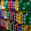 Colorful Dices (Explored) (Normann Photography) Tags: gamesorgamepieces macromondays member'schoicegamesorgamepieces cubes dice dices dof macro makro shallowdepthoffield terninger transparent strobelight studiolight six two 2 6 yellow green red blue consecutively rows row pattern system ohlala