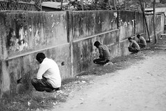 The leaking cauldrons (A. adnan) Tags: environment street bangladesh chittagong bw monochrome men peeing peeinginpublic naturescall