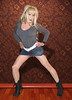 Jeans Genie (Irene Nyman) Tags: irenenyman dutch crossdress crossdresser irene nyman tranny tgirl transgirl boots skirt legs blueeyes jeans cutie babe blonde xdresser mtf tights pantyhose belt denim transvestite cute holland highheels ankleboots miniskirt overknees makeup portrait dress leggings pantypeek