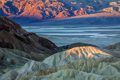 Soft Neapolitan (Kirk Lougheed) Tags: california deathvalley deathvalleynationalpark gowergulch panamintmountains usa unitedstates zabriskie zabriskiepoint badlands landscape nationalpark outdoor park sunrise
