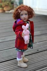 Olivia dressed for the cold... (dambuster01) Tags: helenkish plastic vinyl doll enhanced olivia primavera jointed
