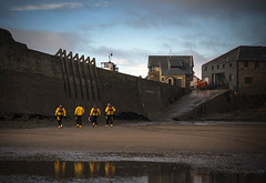LIFEBOATMEN PORTHCAWL. (IMAGES OF WALES.... (TIMWOOD)) Tags: wfc welsh flickr cymru wales beach coast porthcawl bridgend flickrmeet lifeboat lifeboatmen rnli lighthouse tim wood gallery
