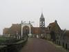 Het Oost, Hindeloopen (Stewie1980) Tags: hindeloopen friesland hylpen fryslân nederland netherlands hetoost sluis brug sluishuis sylhús klokketoren bridge street historic mist fog