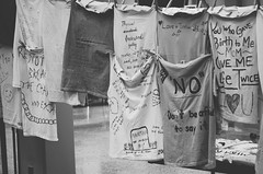 A Voice for the Voiceless (2016) (The ADHD Photographer) Tags: the clothesline project survivors abuse domestic violence sexual assault child rape healing hope social justice womens rights tennessee tech university display protest narrative photography messages from speak out support community verbal