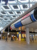 Mondrian patterns, Den Haag Centraal railway station, The Hague, Netherlands (Paul McClure DC) Tags: thehague denhaag nederland thenetherlands sgravenhage southholland zuidholland nov2017 railroad railway architecture modern