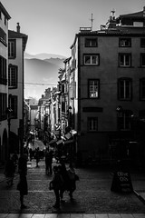 AnDay. (AloysiaVanTodd) Tags: art natural escape life light landscape france bnw blackandwhite sombre dark street city french building people volcano shadows shades