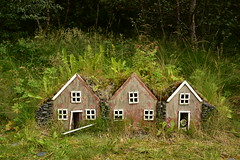 Trio of Fairy Houses 2 (Amaury Laporte) Tags: europe iceland skogar folkmuseum traditional history