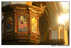 Pulpit (Kurokami) Tags: nazareth israel holy land pilgrim pilgrimage footsteps jesus christ christian religious religion spiritual israeli greek orthodox church saint gabriel annunciation archangel angel angels angelic marys well icon icons iconography pulpit