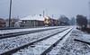 Snow Day on The Piedmont (WillJordanPhoto) Tags: trains snow seneca depot 153 zline z line p67 ns norfolk southern railway greenville district sc south carolina logistics