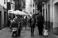 Jaca Street (LionClapper) Tags: people street toddler baby spanish jaca espagne town balcon family