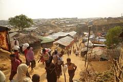 View of the sprawling Kutupalong refugee camp near Cox's Bazar, Bangladesh