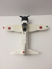 Zero aerial view (TheMachine27) Tags: lego zero wwii japanese fighter airplane mitsubishi military a6m